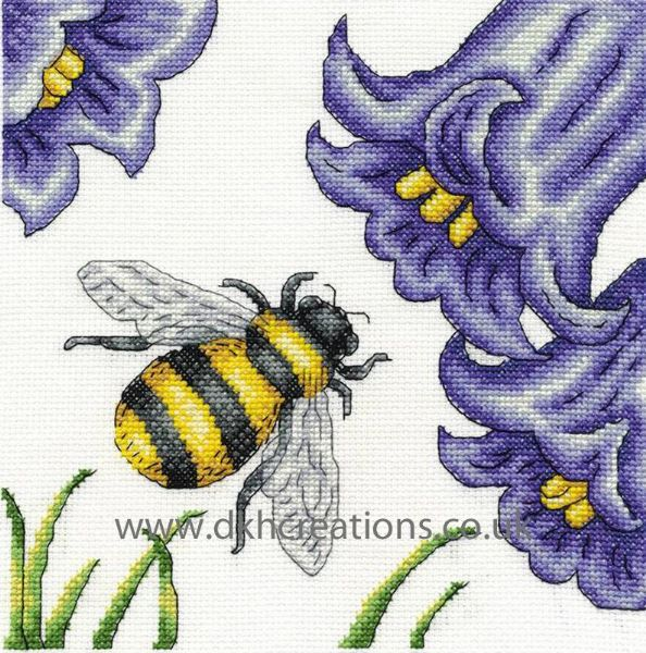 Bee And Bluebells Cross Stitch Kit